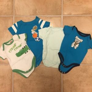 3-6M Lot of Short Sleeve Onesies